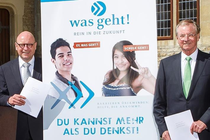 """Für die Jugendlichen der Münsteraner Berufskollegs: """"was geht! - Rein in die Zukunft"""" - Stadt, Walter Blüchert Stiftung und Arbeitsagentur kooperieren"""