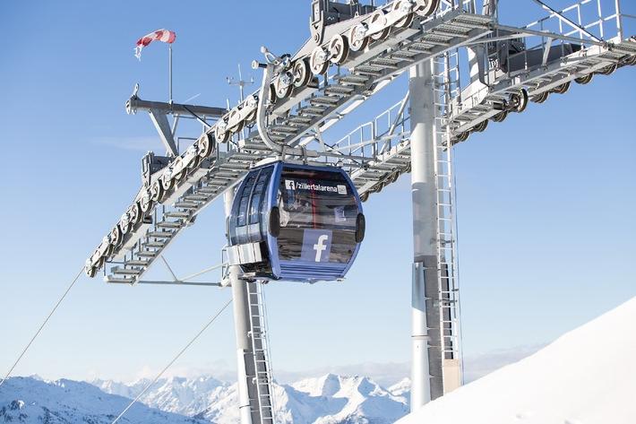 Weltneuheit: Zillertal Arena Facebook-Gondel - BILD