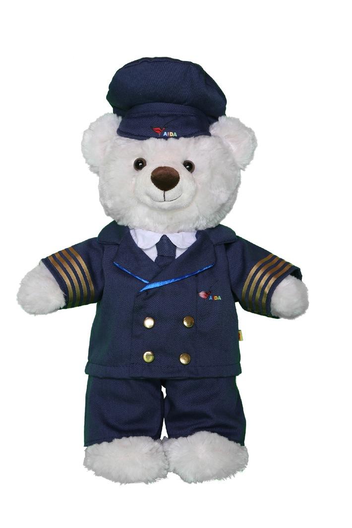 """Bärenfamilie """"sticht in See! / Build-A-Bear Workshop® startet strategische Kooperation mit AIDA Cruises"""