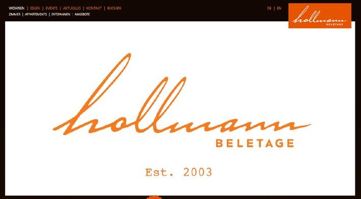 Preise wie vor 10 Jahren. 10 Jahre Hollmann Beletage. Brandneue Website.