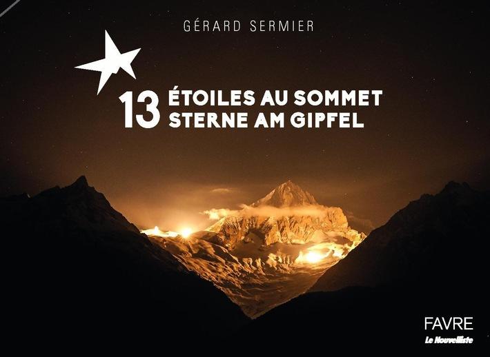 La photo de couverture du livre « 13 etoiles au sommet » Doublement Primée : Le PR-Bild Award 2016 l'a élue meilleure photo Suisse et meilleure photo de tourisme