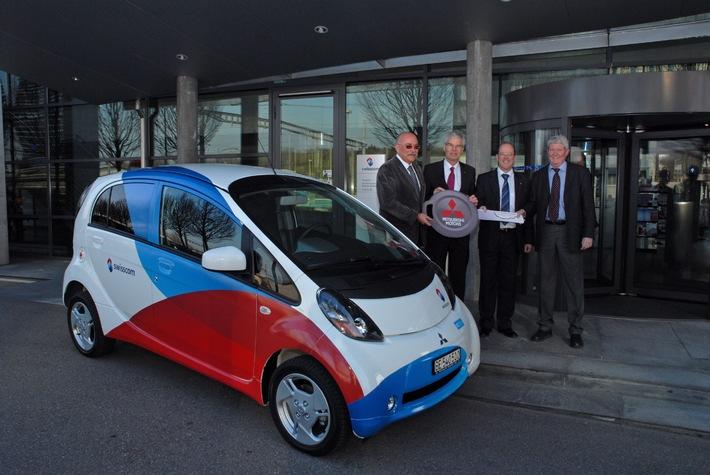 Swisscom fährt Elektroautos von der Emil Frey AG