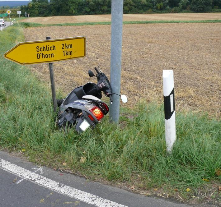 POL-DN: Rollerfahrer schwer verletzt