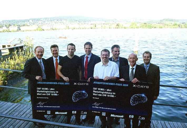 IFJ Institut für Jungunternehmen: x.days Jungunternehmerpreis 2004 geht an frameconcept und CHIsoft