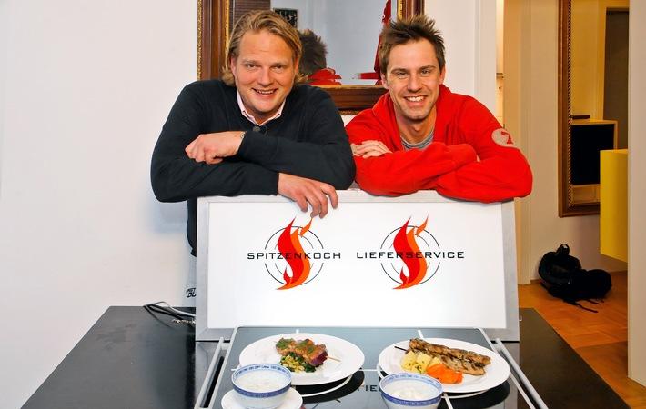 """Griechische Sinnesfreuden und Souvlaki mit Stern beim """"Fast Food-Duell - Spitzenkoch gegen Lieferservice"""" am 11. April 2008"""