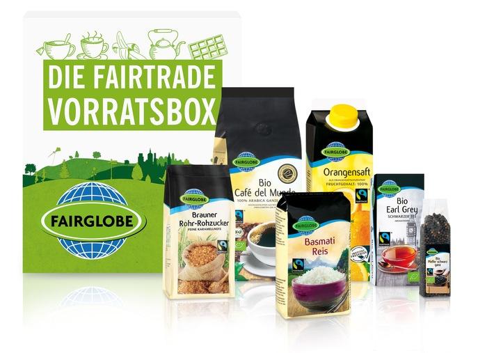 Fairer Genuss frei Haus: Bei Lidl gibt es jetzt die Fairtrade-Vorratsbox / Ab dem 18. April 2016 können Kunden online und versandkostenfrei ein Paket mit Fairtrade-zertifizierten Produkten bestellen