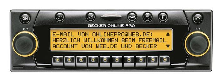 Vom Autoradio ins Internet - mit WEB.DE / WEB.DE kooperiert mit Car-Audio Hersteller Becker