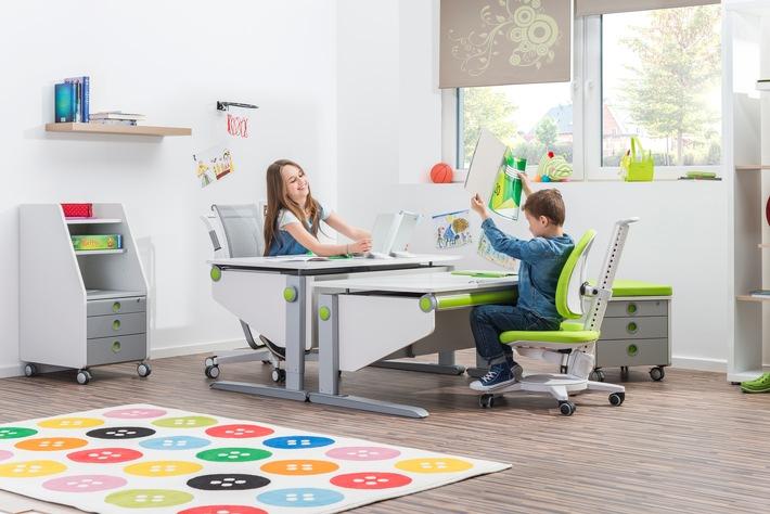 Wippen, kippeln, zappeln - bewegtes Sitzen für einen gesunden Kinderrücken