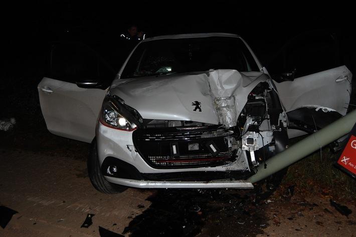 Mehrere tausend Euro Sachschaden entstanden am Mittwochmorgen bei einem Unfall in Sembach.