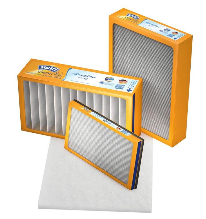 Swirl® cleanAir Filter für kontrollierte Wohnraumlüftung / Einfach, sauber und Energie sparend - das neue Filtersortiment von Swirl®