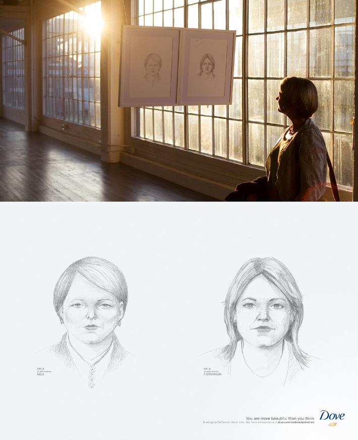 """Die Dove """"Real Beauty Sketches"""" Kampagne deckt erneut die dramatischen Unterschiede zwischen Selbstwahrnehmung und der Wahrnehmung anderer auf"""