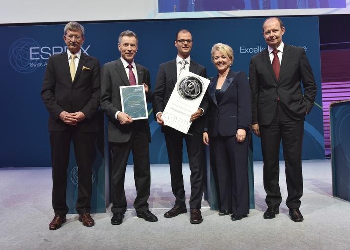 Schweizerische Post gewinnt den ESPRIX Swiss Award for Excellence 2015 (BILD)