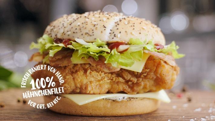 Nur KFC hat den einzig wahren B.O.S.S Bacon / KFC macht in neuem TV-Spot Appetit auf den B.O.S.S Bacon und inszeniert die einzigartige Zubereitung in ausdrucksstarken Bildern