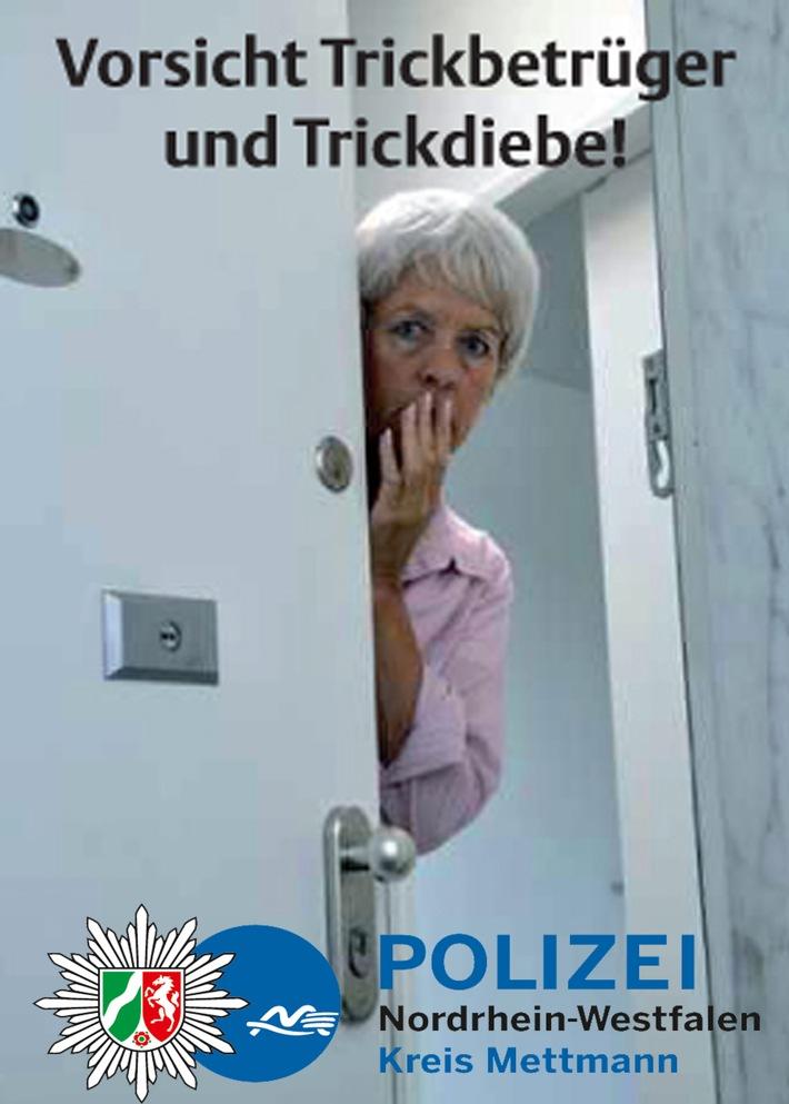 POL-ME: Erneute Warnung vor Ganoven an der Haustür - Ratingen / Kreis Mettmann - 1707099