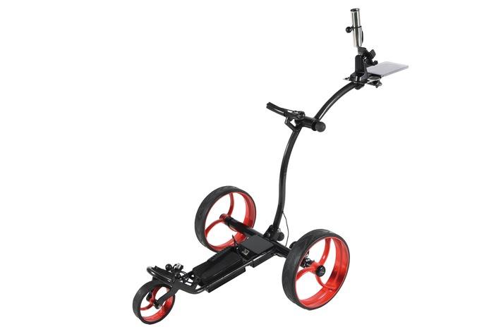 Schweizer Produktion, die bewegt - der erste WLAN Elektro Golf Trolley / SMART RIDER: Ein in der Schweiz produzierter High-End Elektro Golf Trolley der erfolgreichen Schweizer Golf-Marke at-hena