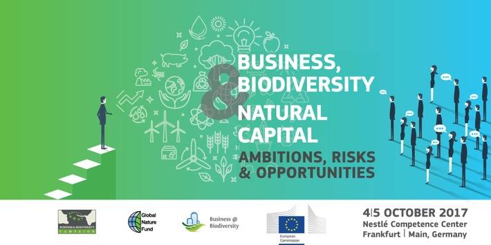 Internationale Konferenz zu Naturkapital am 4. und 5. Oktober in Frankfurt