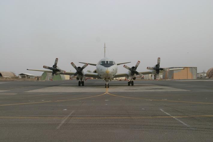 Deutsche Marine - Pressemeldung: Erster Auslandseinsatz einer Orion in Afrika beendet - Marineseefernaufklärer kehrt zurück