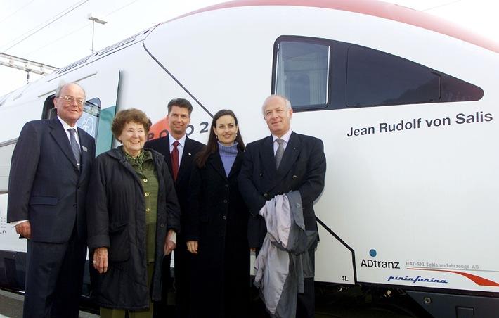 AMAG: Neigezug-Taufe in Lupfig - Auto trifft Zug