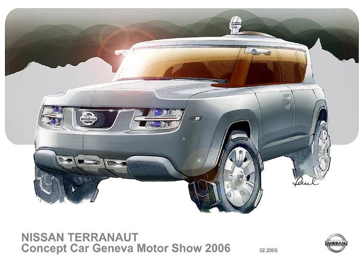 Nissan auf dem Genfer Automobil-Salon 2006 - Abenteuer & Alltag: Die Konzepte Terranaut und Pivo