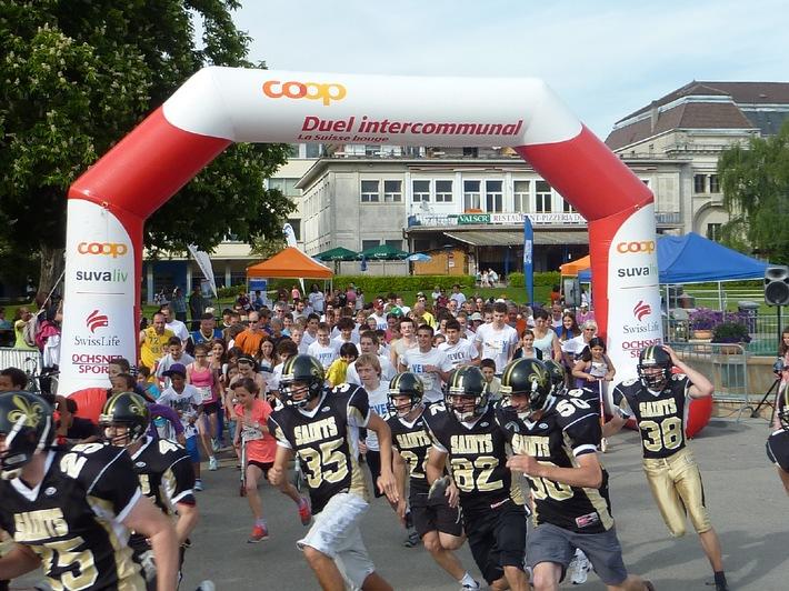 Nouveau record lors du «Duel intercommunal Coop de la Suisse bouge 2012»