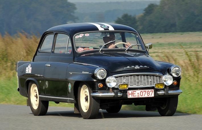 SKODA startet mit fünf Highlights seiner Rallye-Historie bei AvD-Histo-Monte