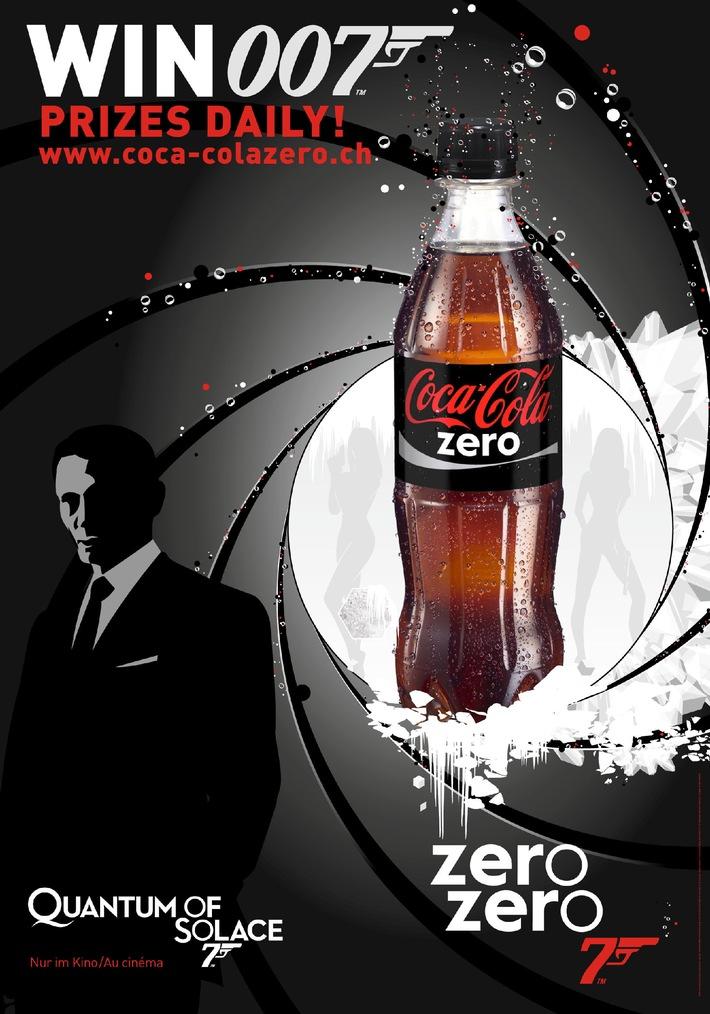 James Bond & Coca-Cola zero collaborent
