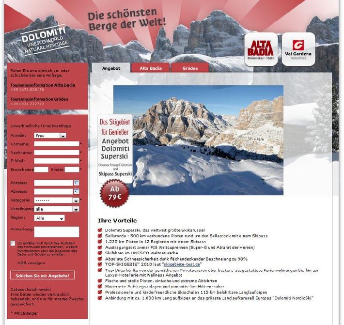 Alta Badia/Gröden: erfolgreiche Bilanz der Online-Winterkampagne - BILD
