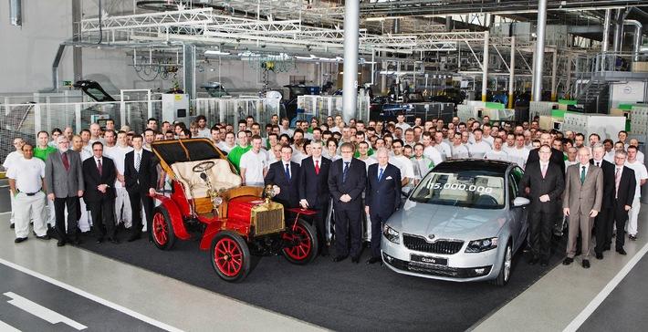 15 Millionen SKODA Fahrzeuge seit 1905 produziert