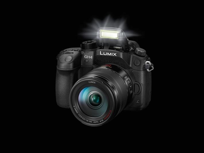 LUMIX GH4R: Der 4K-Foto und -Videohybride kann jetzt noch mehr / Mit V-Log L Kompatibilität ebnet das Update der LUMIX GH4 die Grenzen zwischen Fotografie und Videografie weiter ein