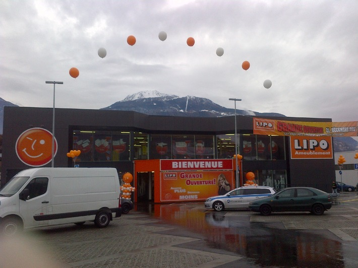 LIPO Conthey - Grande ouverture dans le Valais / Le 21 décembre, LIPO Marché d'Ameublement SA - inaugure sa 15ème succursale dans la ville de Conthey.