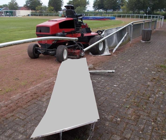 POL-MI: Vandalismus auf Sportplatz