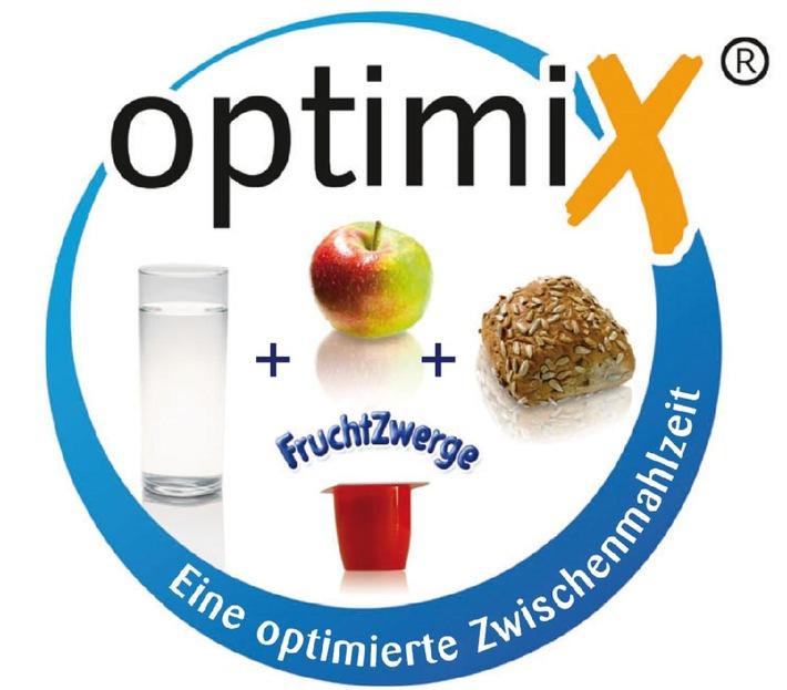 Zwischenmahlzeiten mit Danone FruchtZwerge sind jetzt mit dem optimiX-Siegel ausgezeichnet (Mit Bild)