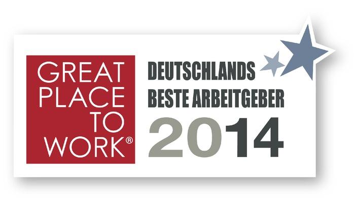 Deutschlands Beste Arbeitgeber 2014 ausgezeichnet