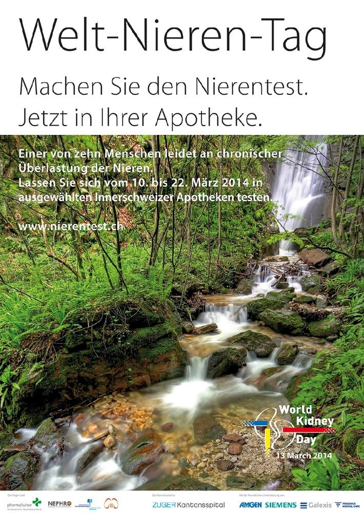 Welt-Nieren-Tag 13. März 2014: Aktion in 23 Innerschweizer Apotheken (BILD/ANHANG)