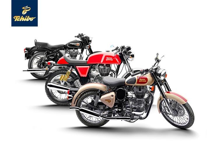 Die Königin gibt sich die Ehre: Royal Enfield Motorräder jetzt bei Tchibo