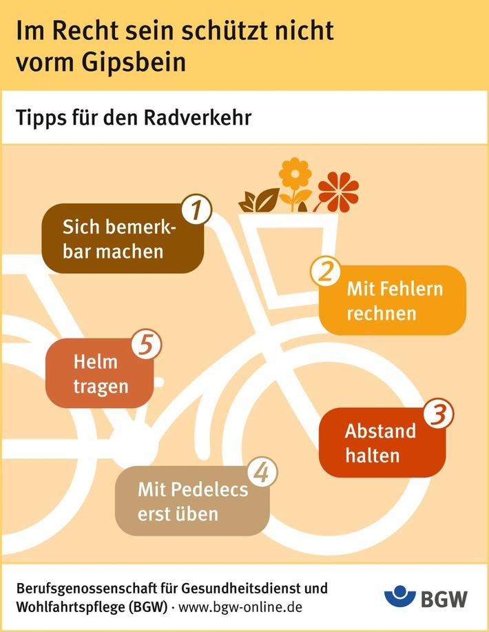Im Recht sein schützt nicht vorm Gipsbein: Tipps für den Radverkehr