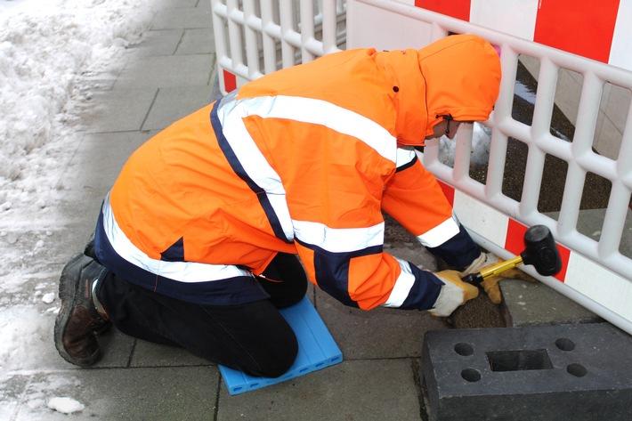 Bauarbeit in der kalten Jahreszeit - Vor Unfällen und Kälte schützen