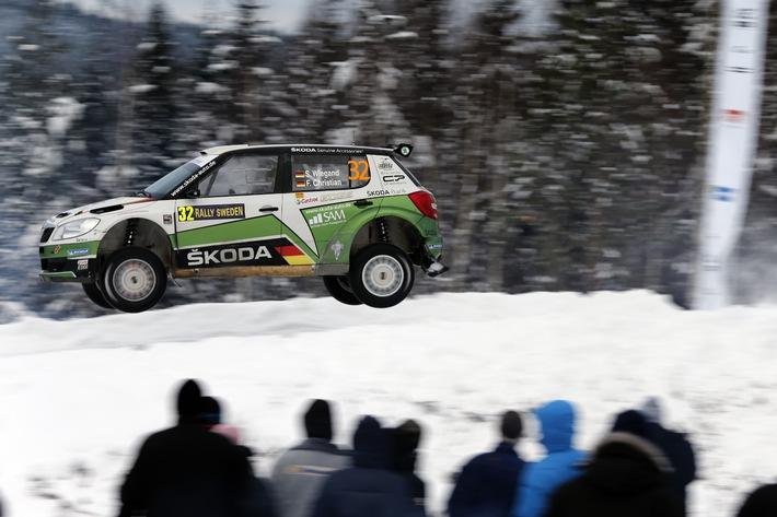 Sepp Wiegand/Frank Christian in Schweden auf Gesamtrang 15 und Dritter in der WRC 2!