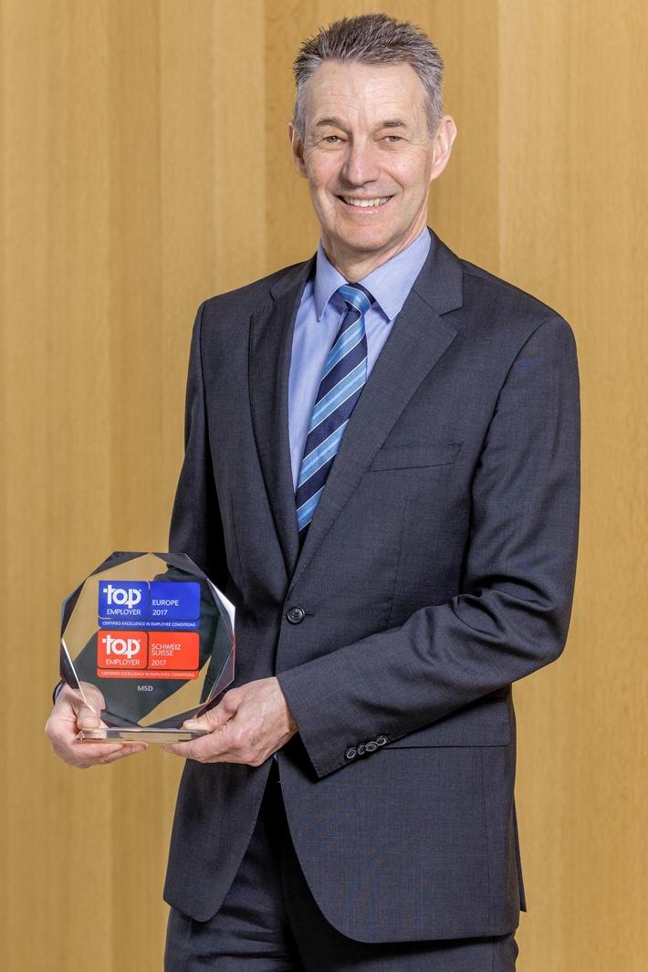MSD en tant que « Top Employer Suisse 2017 » et « Top Employer Europe 2017 »