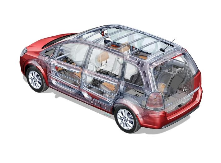 Fünf Sterne für den neuen Opel Zafira / Höchste Bewertung im Euro NCAP-Sicherheitstest
