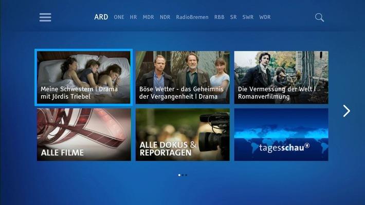 Ab sofort auch ARD-Mediathek auf der Sky TV Box verfügbar