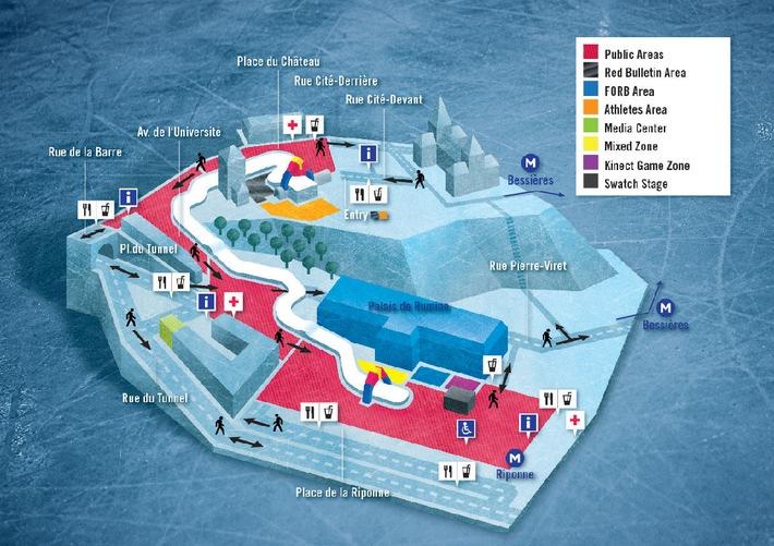 Information aux rédactions locales: Red Bull Crashed Ice Lausanne, Place de la Riponne, 1er et 2 mars 2013