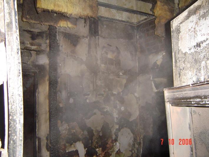FW-E: Feuer im leerstehenden Büro