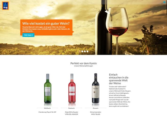Die digitale Weinwelt von ALDI SÜD - einfach die richtige Auswahl treffen