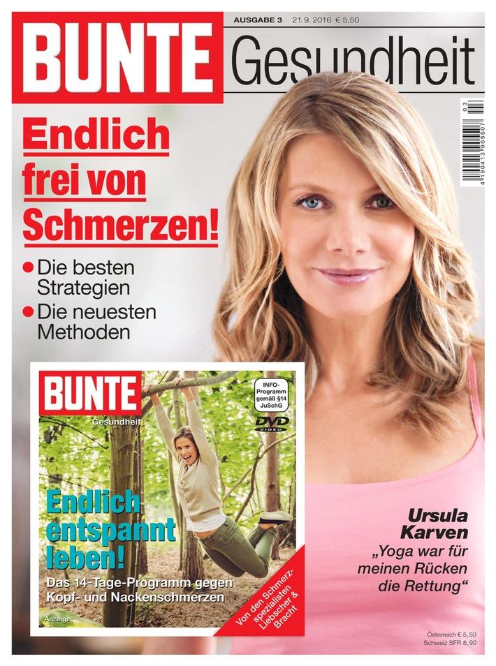"""Bunte Gesundheit: Ausgabe 3 erscheint am 21. September zum Thema """"Schmerz"""""""