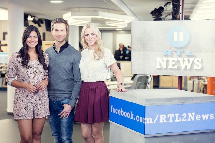 """Jung, authentisch, näher dran: """"RTL II News"""" mit neuem Studio, Design und Konzept"""