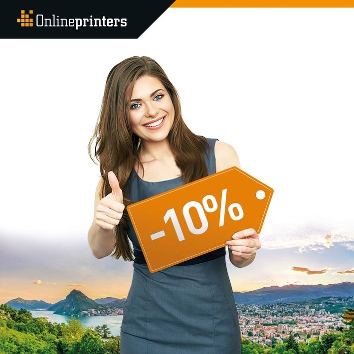 Onlineprinters.ch baisse de 10% le prix des imprimés / Impression en ligne à bas prix en Suisse grâce à une logistique optimisée