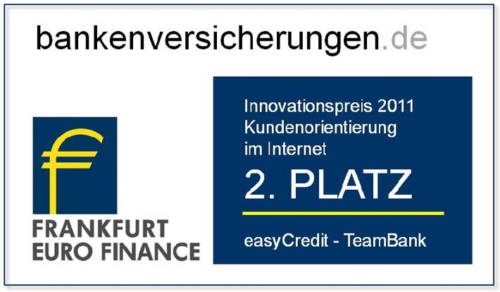 """easyCredit beim Innovationspreis Retail Banking ausgezeichnet /  2. Platz in der Kategorie """"Kundenorientierung im Internet"""" (mit Bild)"""