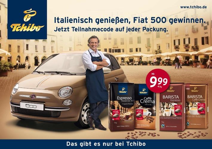 Mit Tchibo italienisch genießen und Fiat 500 gewinnen