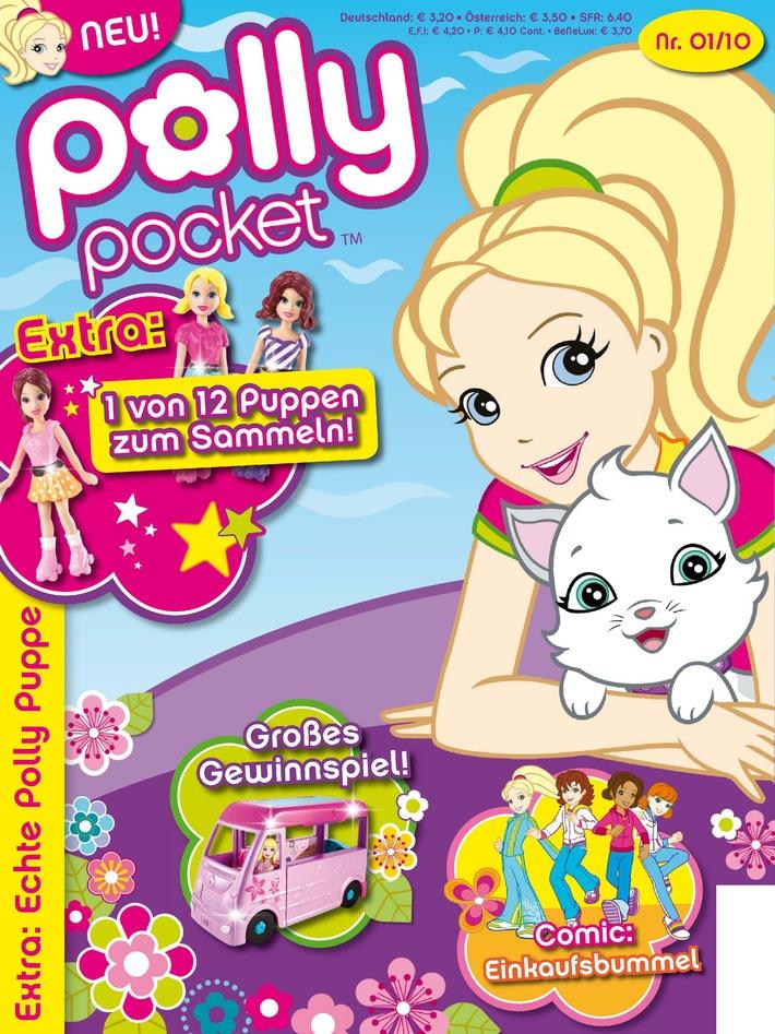 Polly Pocket[TM] bekommt ein neues Zuhause: Am 2. März erscheint im Egmont Ehapa Verlag das Polly Pocket[TM] Magazin (mit Bild)